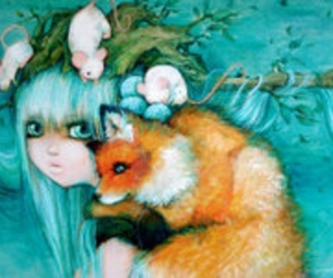 fox and green image