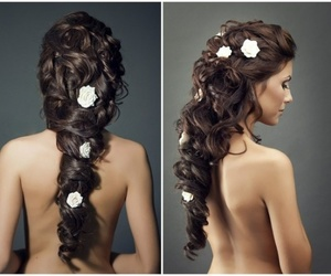 long hair, wedding hairstyles, and cute image