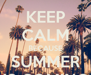 summer, keep calm, and sun image