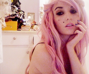 audrey kitching, pink hair, and scene image