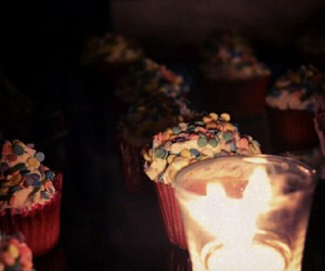 beautiful, candle, and cupcakes image