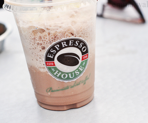 chocolate, drink, and espresso house image