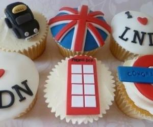 london, cupcakes, and england image