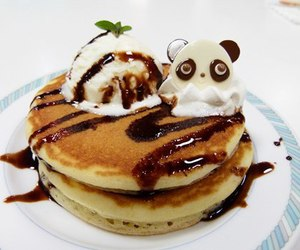 food, panda, and pancakes image