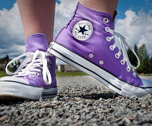 converse, all star, and purple image
