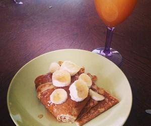 banana, pancakes, and yummi image