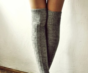 body, girl, and stockings image