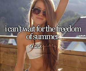 summer, freedom, and girl image