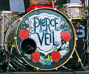 pierce the veil, drums, and band image