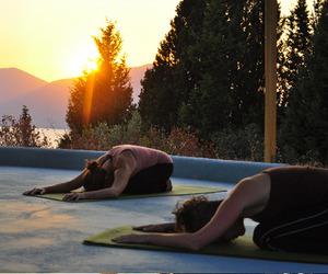 fitness, sun, and yoga image
