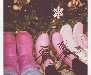 doc martens, pink shoes, and timberland image