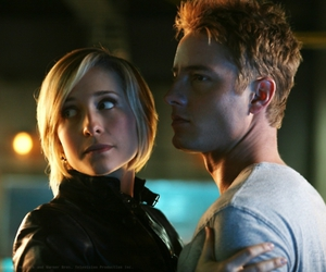 justin, oliver, and smallville image