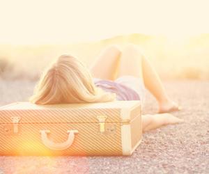 girl, travel, and sun image