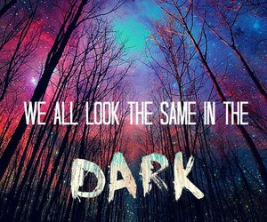 dark, quote, and forest image