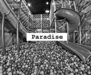 paradise, black and white, and fun image