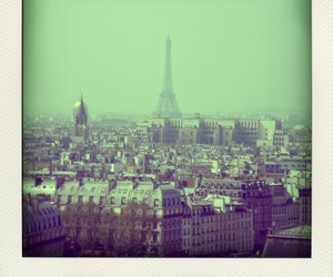 eiffel tower, paris, and polaroid image