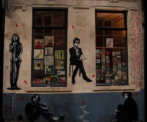 bob dylan, Jim Morrison, and john lennon image
