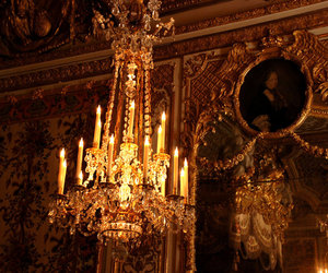 antoinette, chandelier, and chateau versailles image