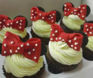 bow, cupcakes, and disney image