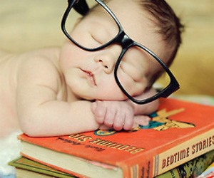baby, book, and cute image