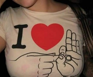 funny, i love, and t shirt image