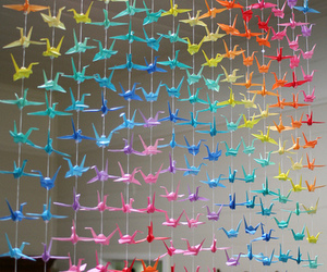 origami, rainbow, and colorful image