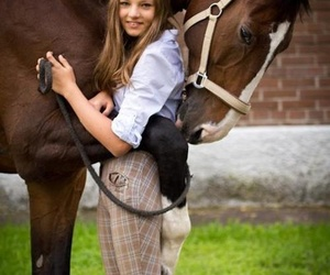 girl, horse, and lovely image
