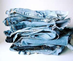 jeans, fashion, and denim image