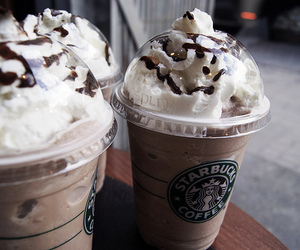 coffee, drinks, and starbucks image