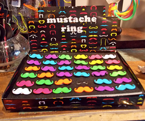 mustache, moustache, and rings image