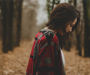 girl, forest, and autumn image