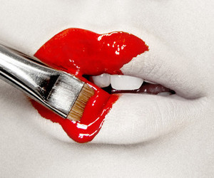 lips, red, and paint image