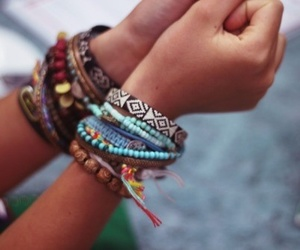 bracelet, summer, and colorful image