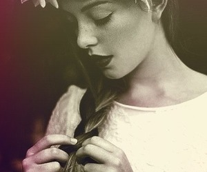 beauty, vintage, and flowers image