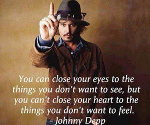 johnny depp, quote, and feelings image