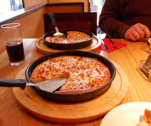 cheesy, food, and cheese pizza image