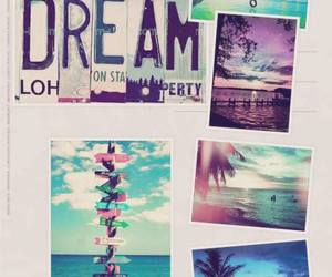 beach, direction, and Dream image