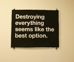 destroy and typography image
