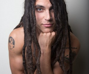 samuel larsen and tattoo dreadlocks image