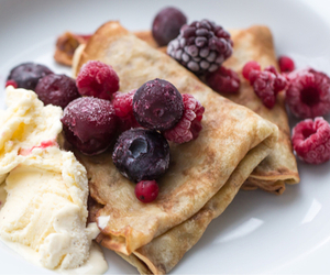 food, pancakes, and berries image