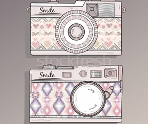 cameras, picture, and smile image