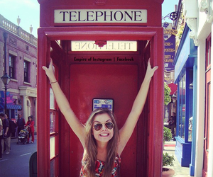 girl, telephone, and summer image