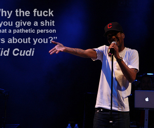 kid cudi, person, and give a shit image