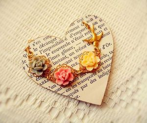 heart, cute, and flowers image