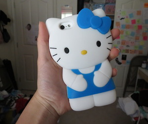 iphone, case, and hello kitty image