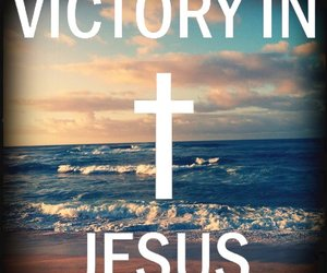 jesus, god, and victory image
