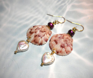 earrings and pearls. shells image