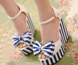shoes, blue, and white image
