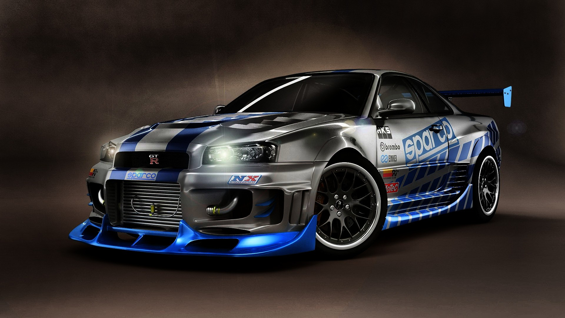 Car Wallpaper Gtr R34 Nissan Skyline Tuning 1920x1080