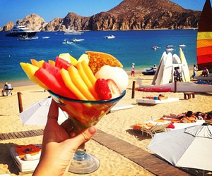 summer, food, and beach image